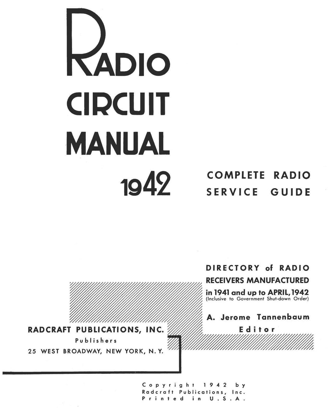 1942 Radio Circuit Manual
