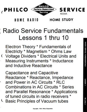 Philco Radio Service Fundamentals