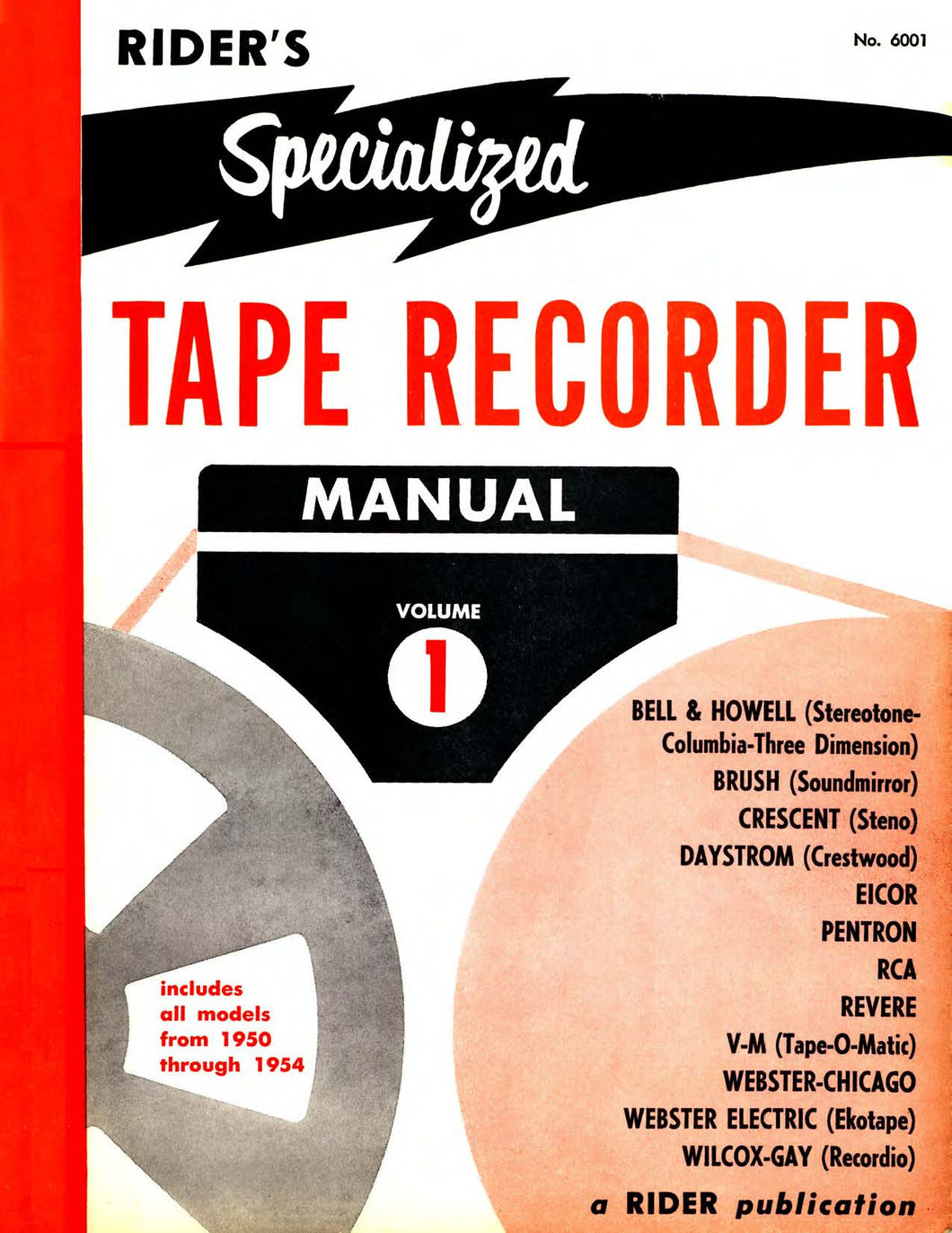 Rider's Specialized Tape Recorder Manual Volume 1