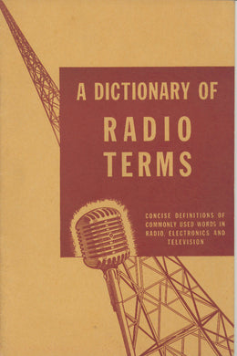 A Dictionary of Radio Terms