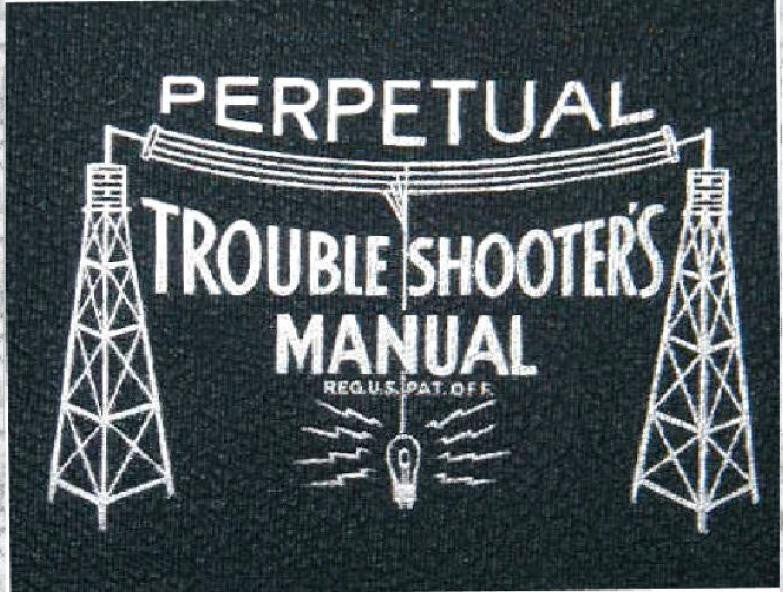John F Riders Perpetual Troubleshooters Manual * Volume 9