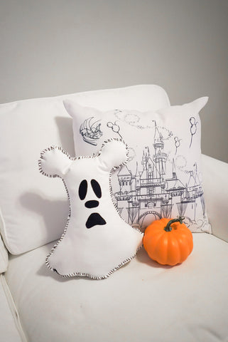 Mickey Ghost Pillow - DIY - grape soda club