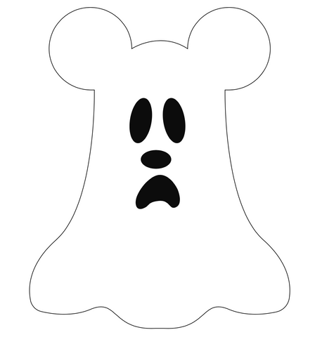 Mickey ghost pillow stencil