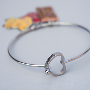 Adventure is Out There Bangle Heart Clasp Bracelet