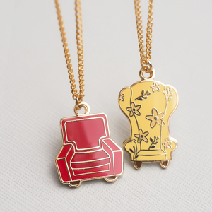 Carl & Ellie Adventure Chairs Gold Necklace
