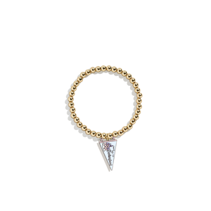Pennant Flags Charm Bracelet | 14k Gold Beads