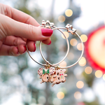 Holiday Gingerbread Peppermint Rose Gold Star Clasp Bangle