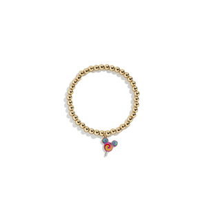 Lollipop Charm Bracelet | 14k Gold Beads
