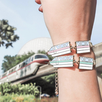 Monorail Highway in the Sky Gold Bracelet