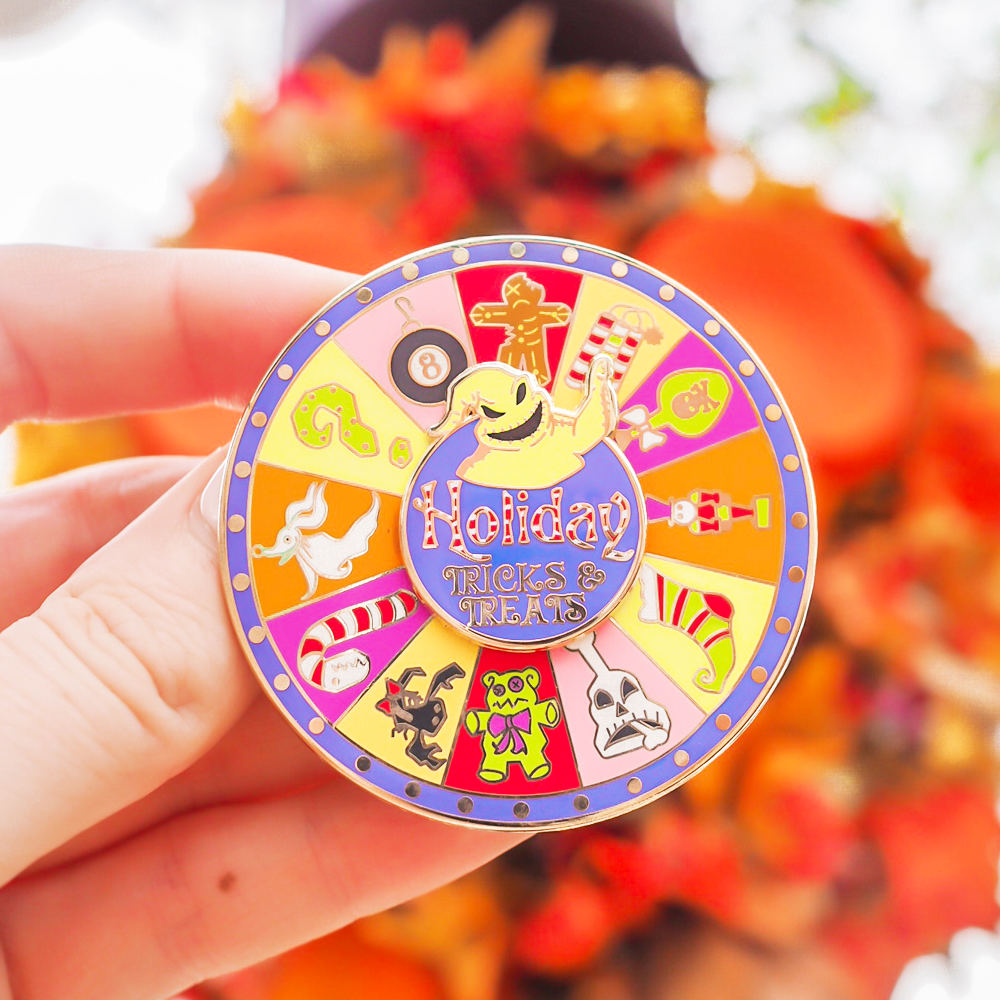 Holiday Trick & Treats Halloween Spinner Enamel Pin