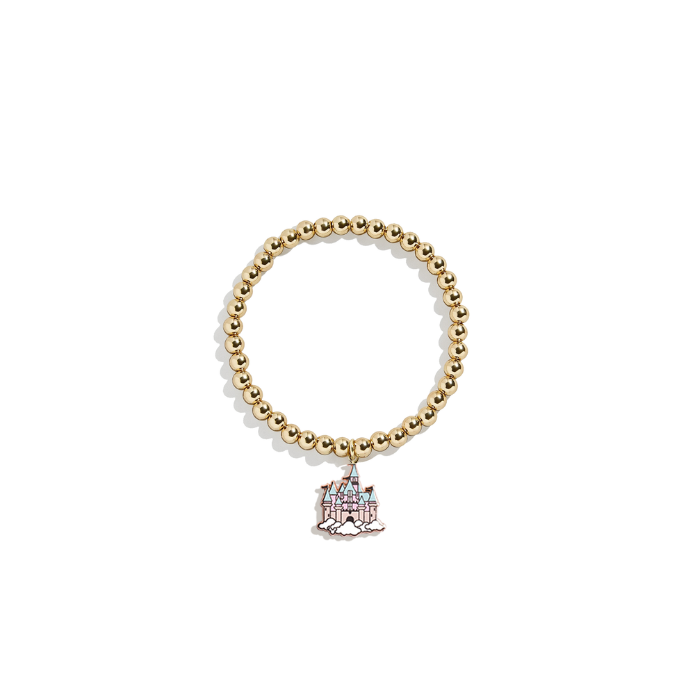Sleeping Beauty Castle Charm Bracelet | 14k Gold Beads