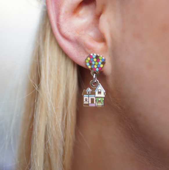 Adventure is Out There! Gold Drop Earrings