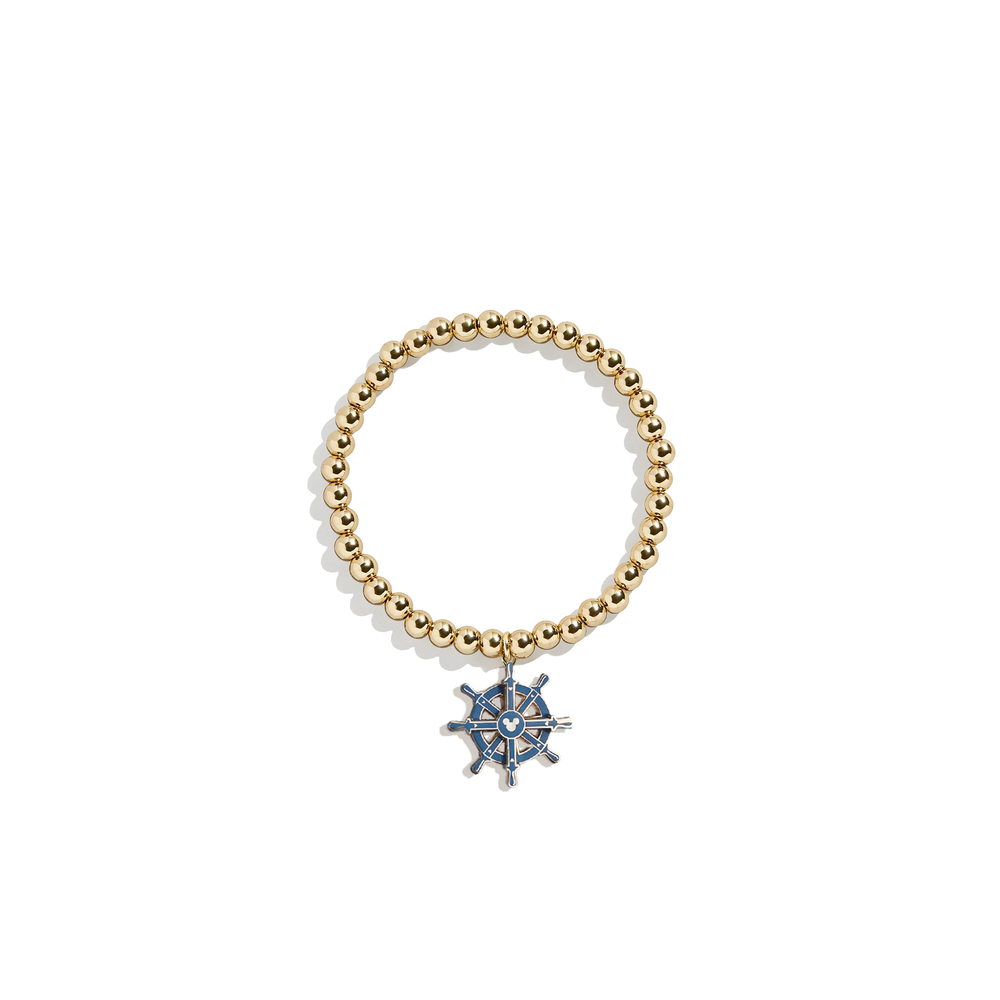 Captain's Wheel Charm Bracelet | 14k Gold Beads