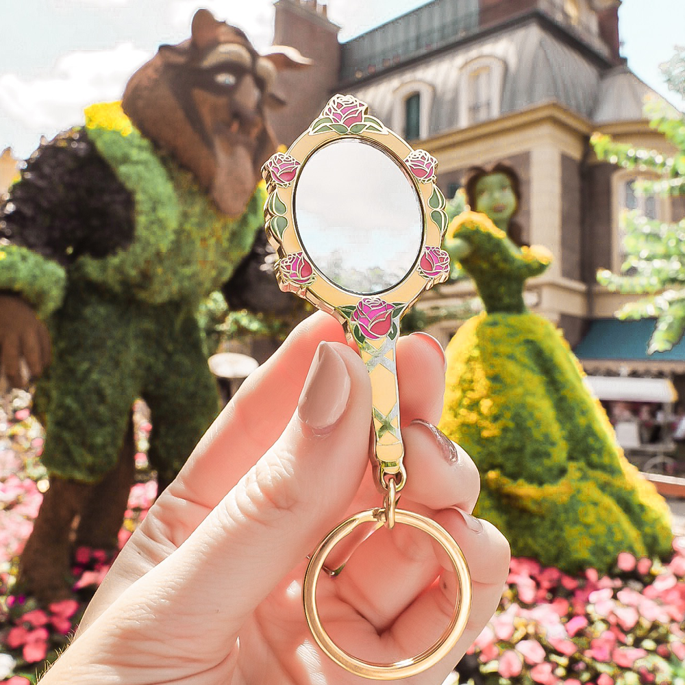Enchanted Rose Mirror Keyring / Pin