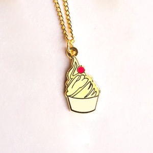 Pineapple Whip Gold Enamel Necklace