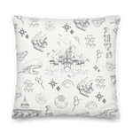 Sketch Collection: Happily Ever After Premium Pillow