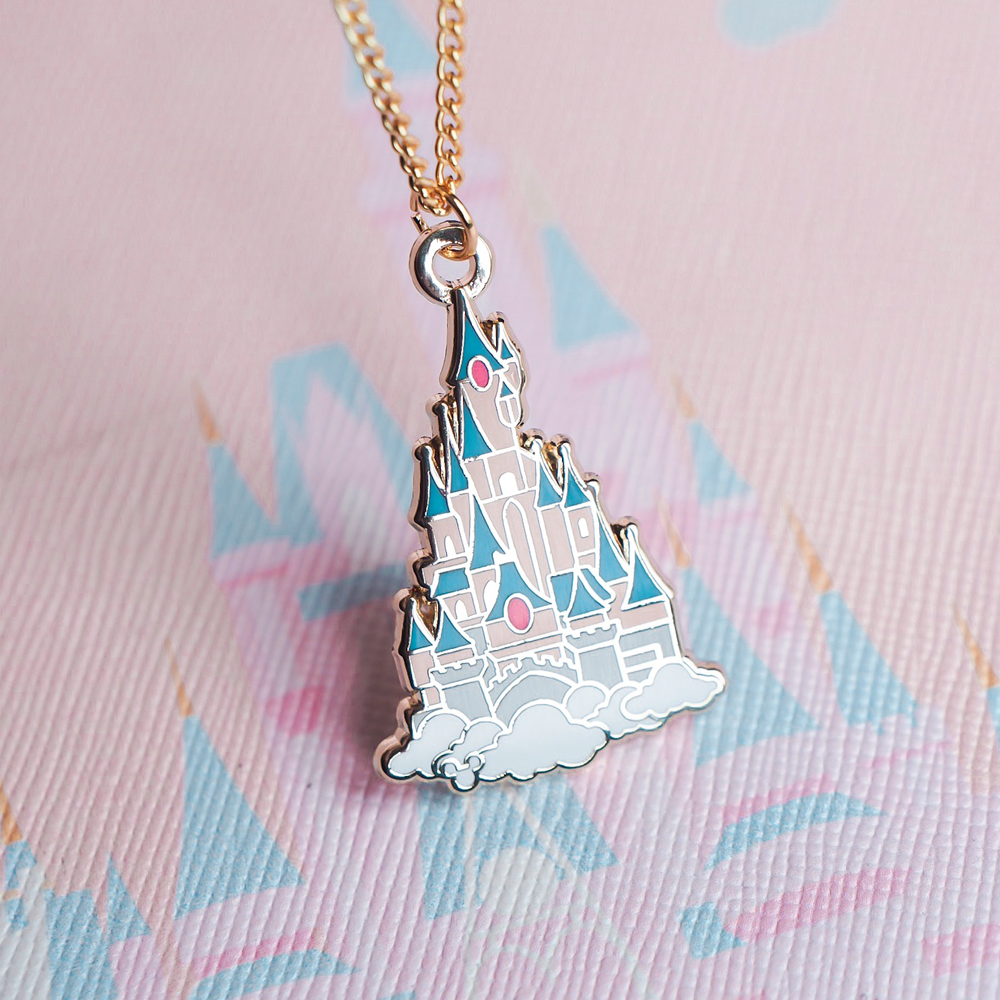 Paris Castle Gold Enamel Necklace