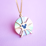 Fun Wheel Spinning Enamel Necklace