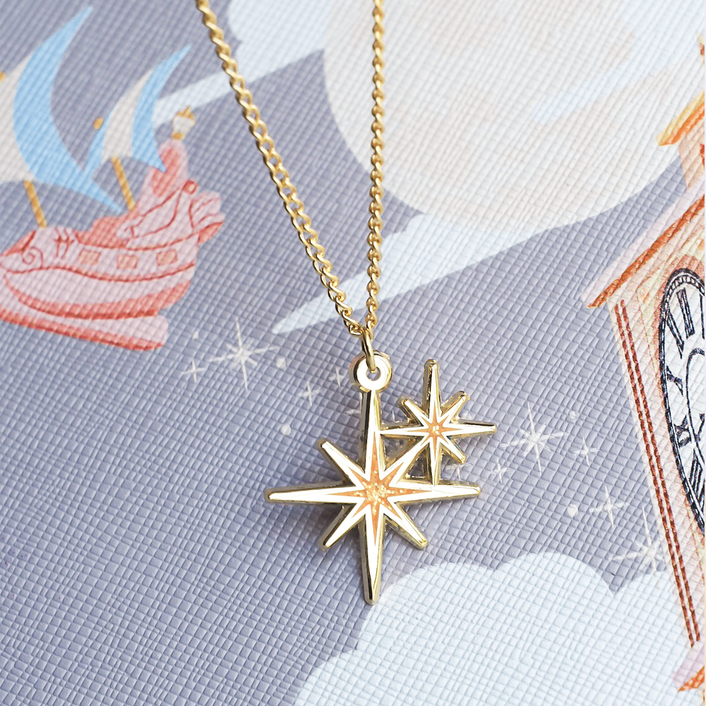 Second Star Gold Enamel Necklace