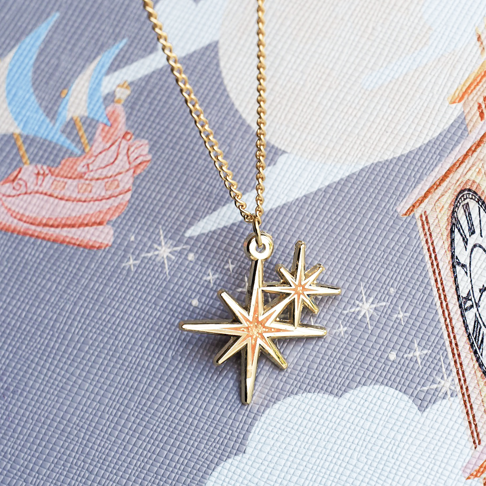 Second Star Glitter Gold Enamel Necklace