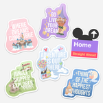 Quote Die Cut Vinyl Stickers
