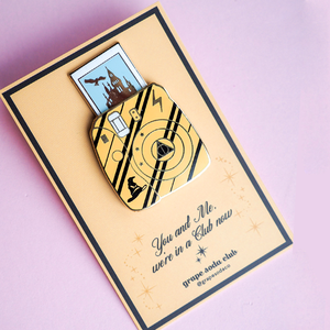 Wizarding House Castle Camera Gold Enamel Pins