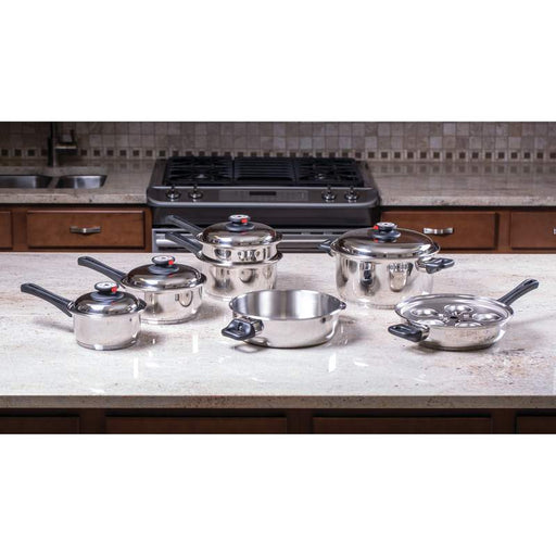High End 9-Element Piece Waterless Cookware set