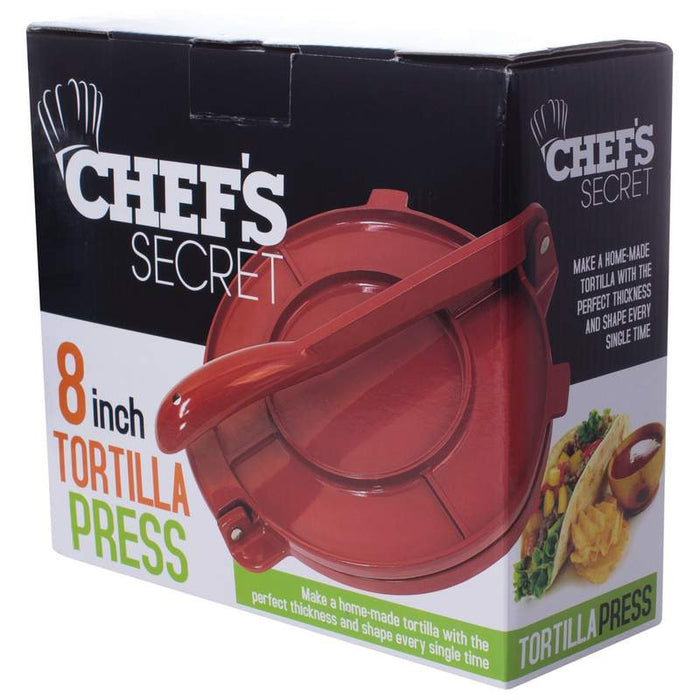 "High end  8"" Red Tortilla Press"