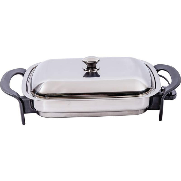 "Stainless Steel 16"" Rectangular Electric Skillet"