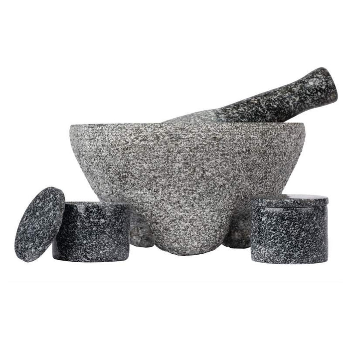 Mexican  4pc Granite Molcajete Set