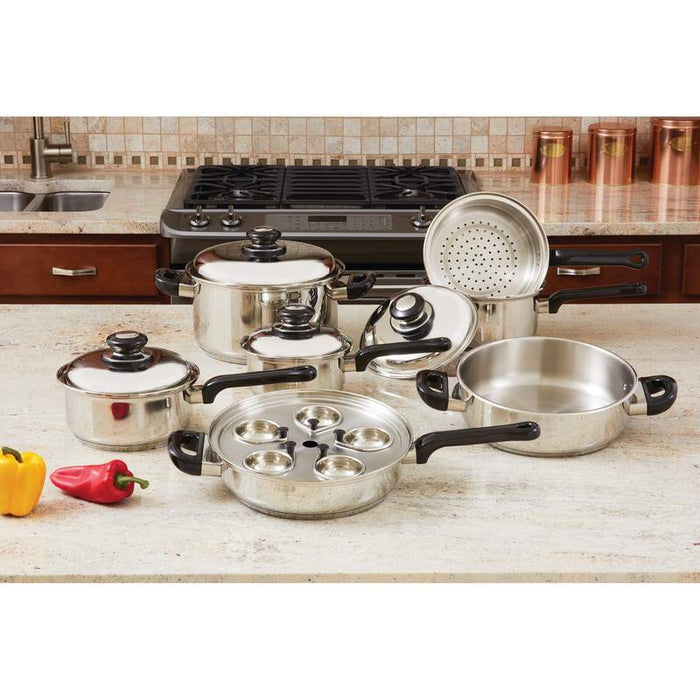 Great beginners 17pc Stainless Steel Cookware Set - King of Products