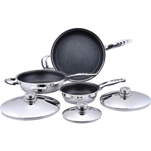 6pc High-Quality, Heavy-Gauge Stainless Steel Non-Stick Skillet Set