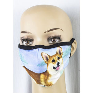 Face mask-Welsh Corgi