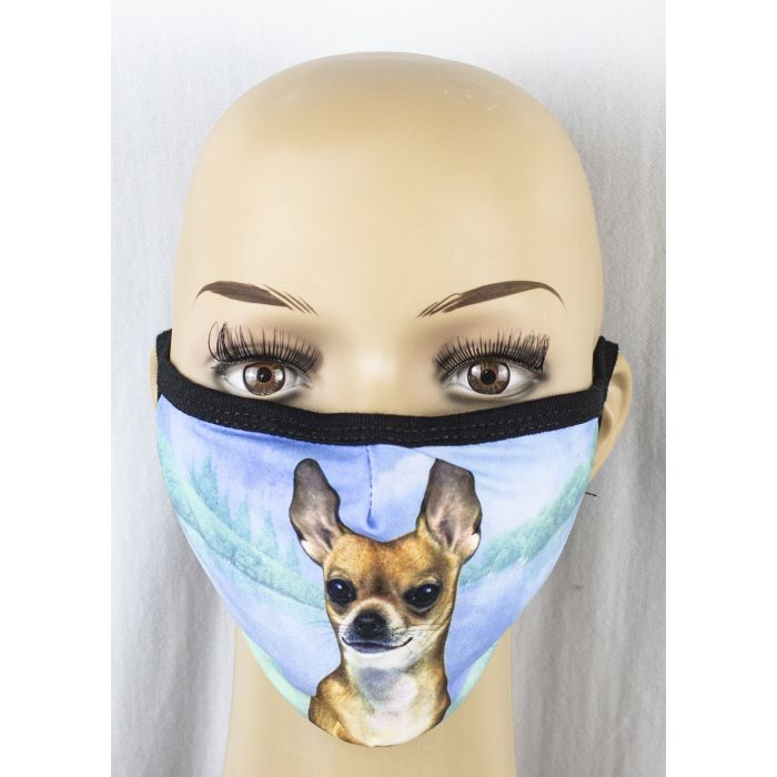 Face mask-Tan Chihuahua