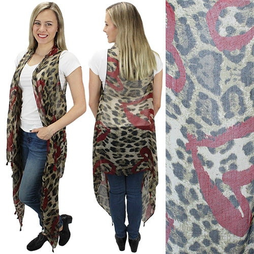Sheer Leopard Heart Vest