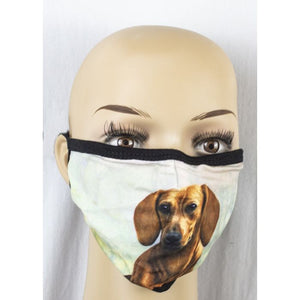 Face mask-Dachshund