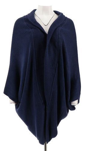 Open Slouch Sweater with Shawl Collar