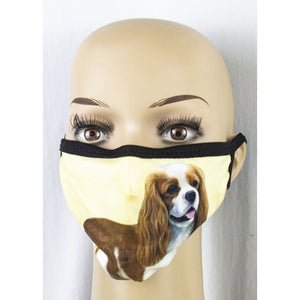 Face mask-King Charles Cavalier