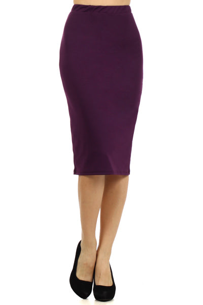 Purple Pencil Skirt