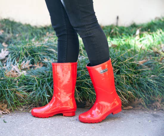 RED EMMA MID CALF WOMEN'S RAIN BOOTS