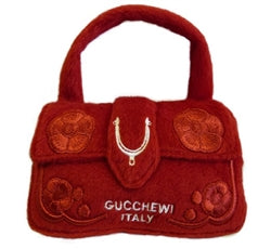 Gucchewi Red Floral Purse Toy