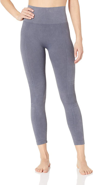 Distressed Wash Seamless Leg-detail Leggings