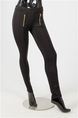 Black Zipper Legging