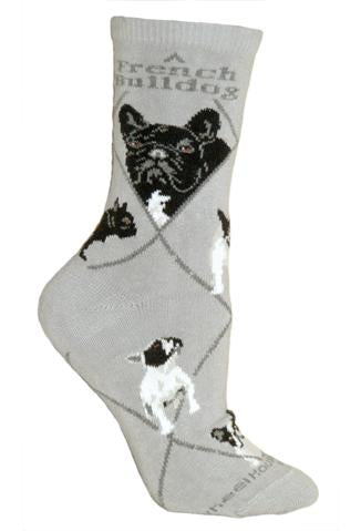 French Bulldog Grey Socks