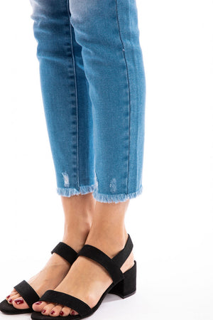 Light Mid Rise 4 Button Denim Jeans