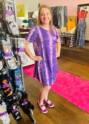 Purple Snake Dress