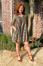 Serape and Leopard Pocket Dress