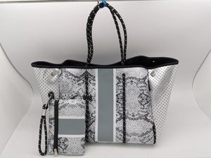 Snake Neoprene 2-piece Bag Purse