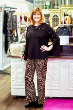 Leopard Stretch Loose Leg Pant