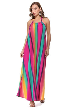 Rainbow Sleeveless Dress